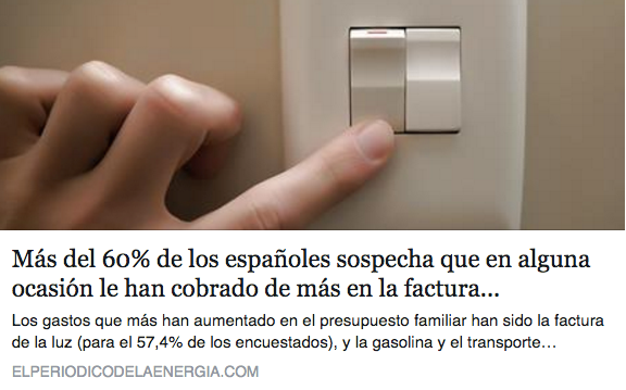Abusos en la factura de la luz