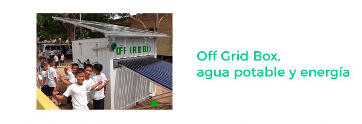 innovación fuentes de energía renovables - off grid box