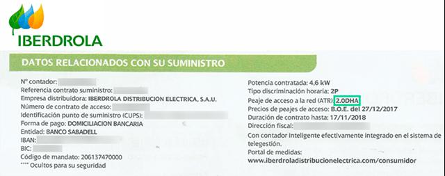 Lucera - Factura de Iberdrola: Qué tarifa de luz tienes