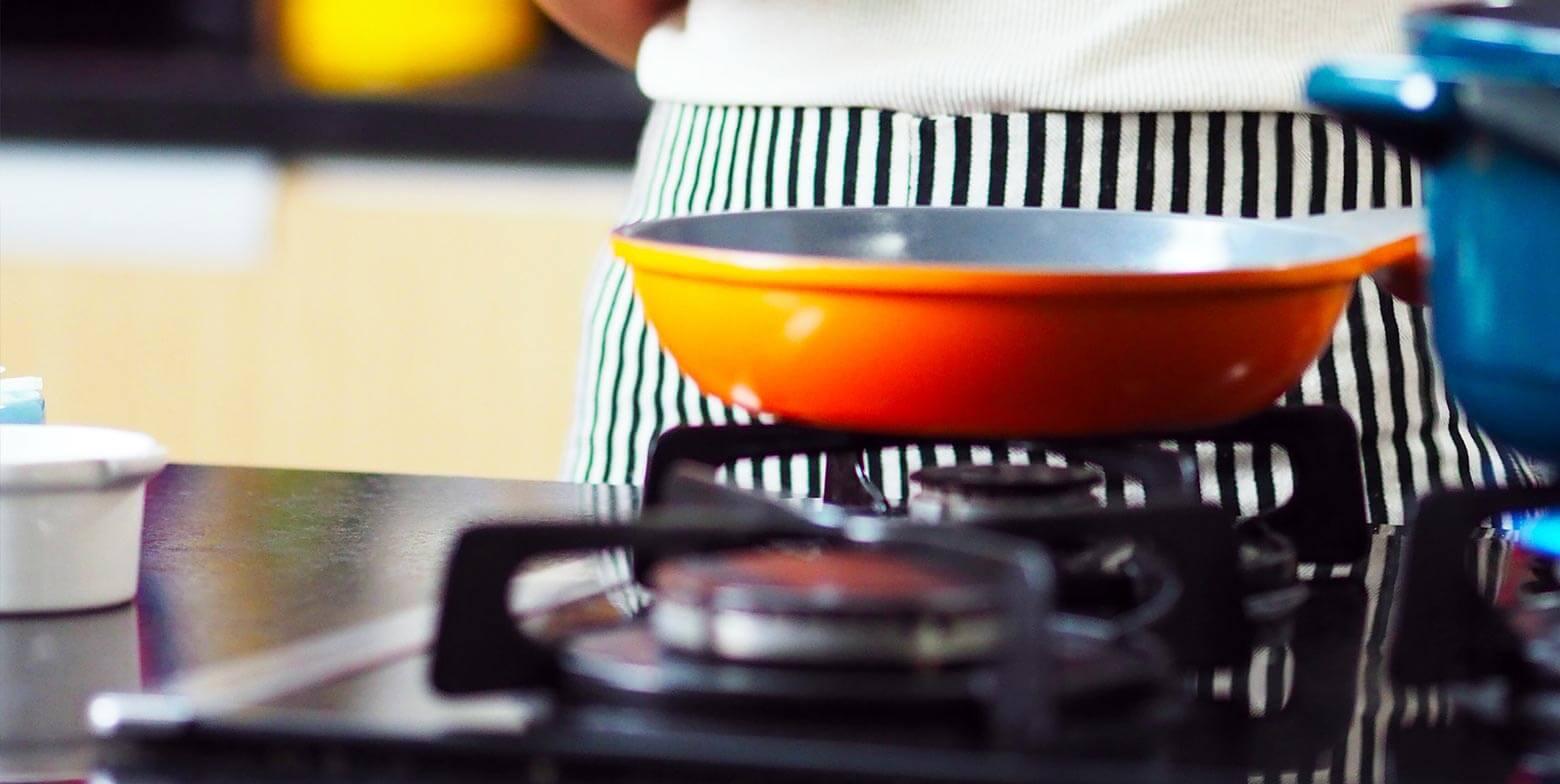 Cocinando con gas