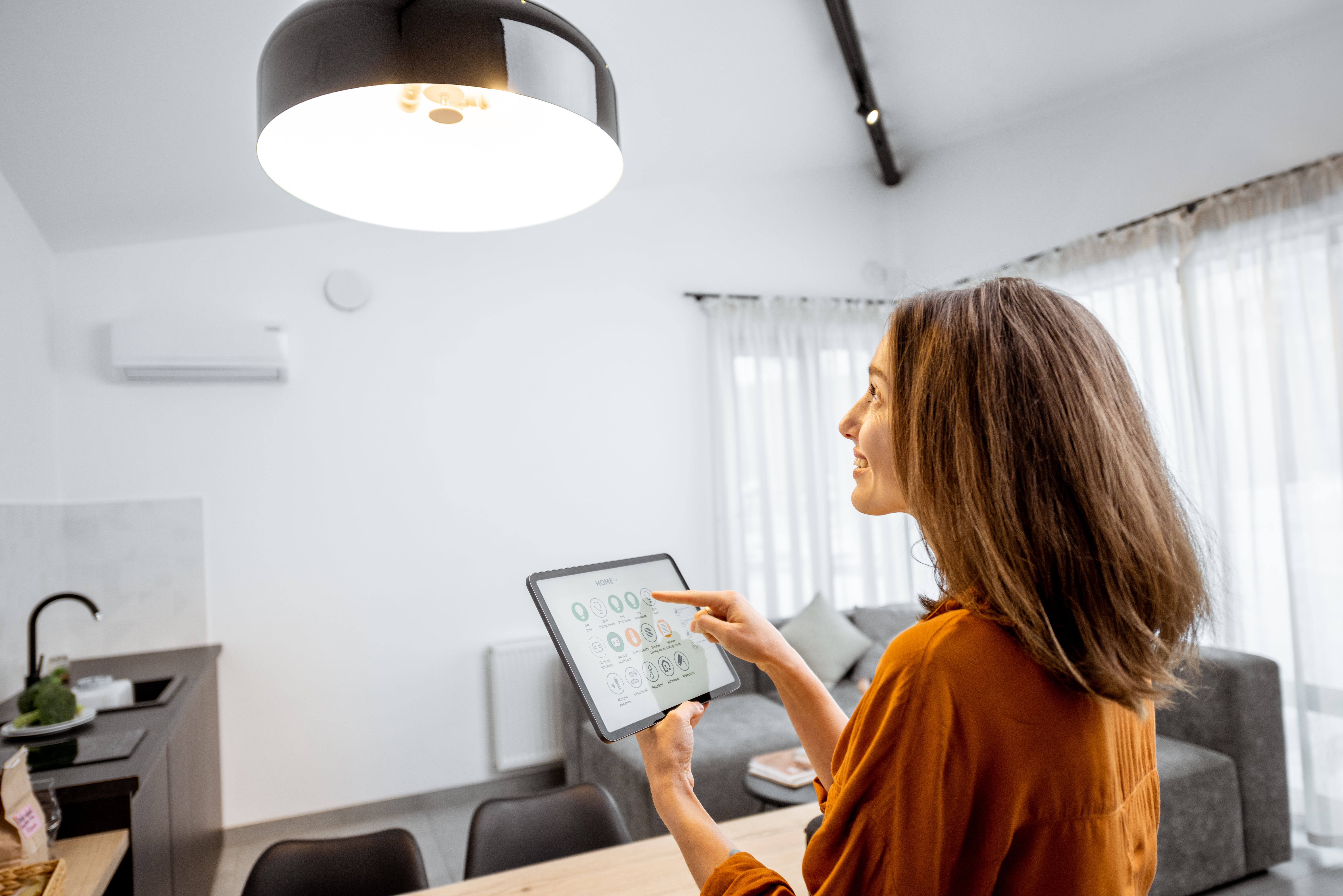 Eficiencia energética hogar con domótica